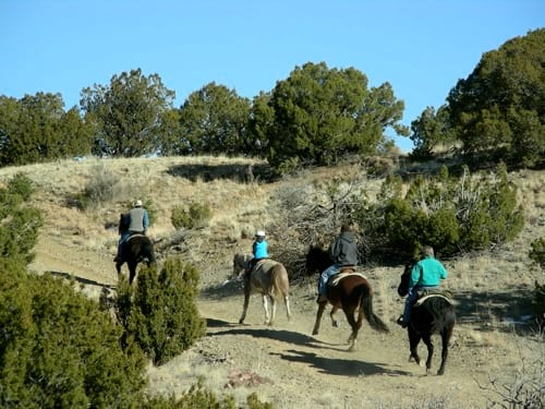 Riding through the Cerrillos Hills